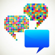 Colorful, patterned speech bubbles — Imagens vectoriais em stock