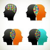 Talk, think, communicate — Stock Vector
