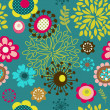 Seamless flower pattern background — Stock Vector