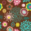 Seamless flower pattern background — Vector de stock #8841264