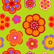 Seamless flower pattern background — Imagen vectorial