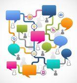 ソーシャル メディアのイメージは、スピーチの泡 — ストックベクタ