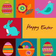 Easter greeting card with bunny — Stock Photo