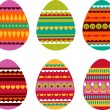 Stock Vector: Patterned Easter eggs