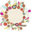 Royalty-Free Stock Imagen vectorial: Greeting card with flowers