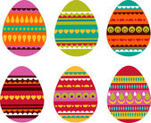 Patterned Easter eggs — Stock Vector