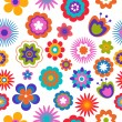 Seamless flower pattern background — Vector de stock