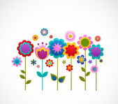 Greeting card with flowers — Stock Vector