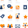 Social Media and network icons, vector set — Stockvector #9543288