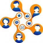 Social Media and network illustration — Stock Vector