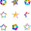 Collection of star icons, vector — Stock Vector #9595665