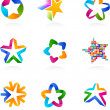 Collection of star icons, vector — Stock Vector #9595707