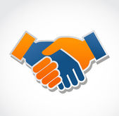 Handshake abstract vector illustration — Vector de stock