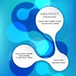 Royalty-Free Stock Vectorafbeeldingen: Blue abstract template