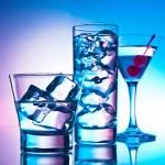 Three cocktails — Stock Photo