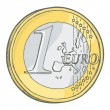One euro coin sketch — Stock Vector