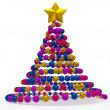 Christmas tree abstract — Stock Photo