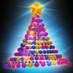 Christmas tree abstract with lighting — Stock Photo