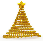 Christmas tree golden abstract — Stock Photo