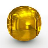 Tennis ball golden — Stock Photo
