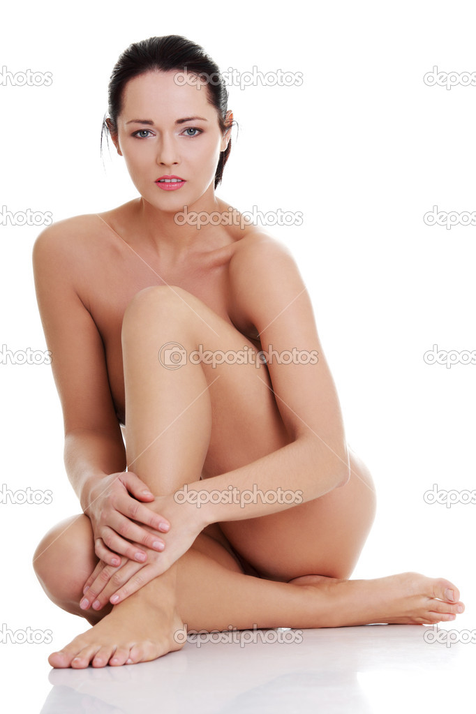 Artistic shot a beautiful naked woman , isolated on white background — Stock Photo #10055007