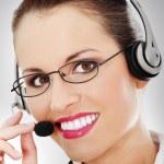 Call centre employee — Stock Photo