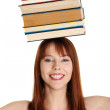 Young woman (student) with books — Stock Photo #10171764