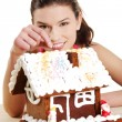 Making winter gingerbread — Stock Photo
