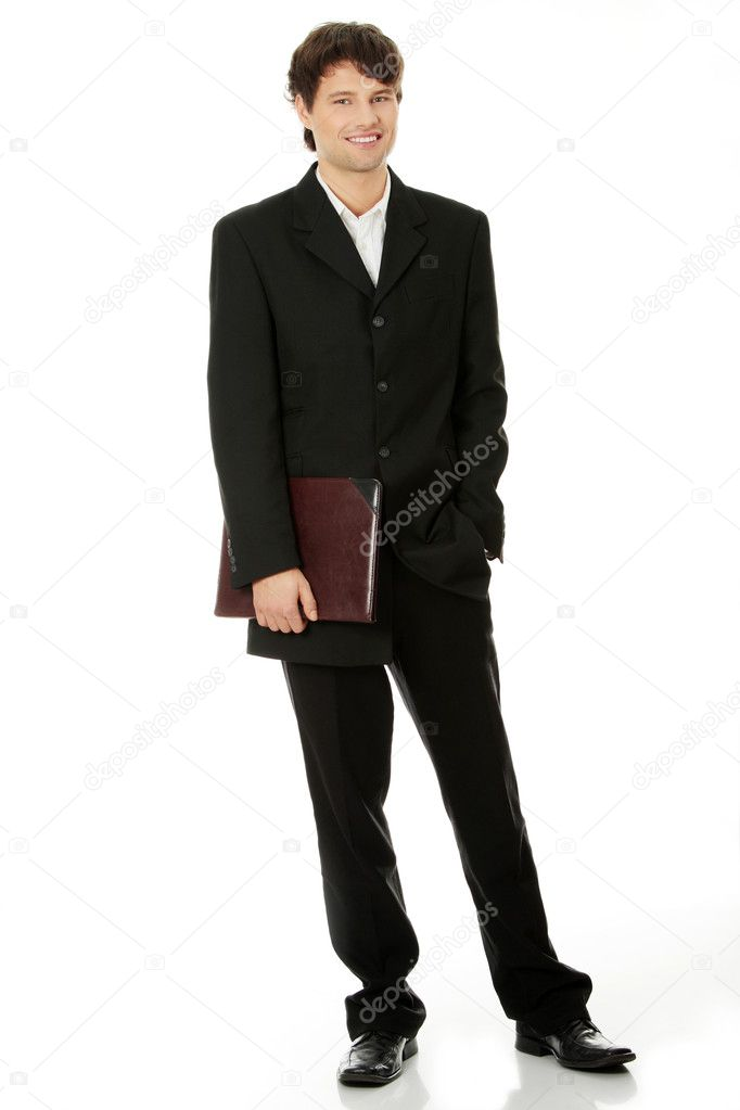 Full length portrait of businessman, isolated — Stock Photo #9199817