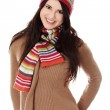 Young woman with winter cap — Stock Photo #9200069