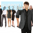 Businessman pushing SUPPORT on a touch screen interface. — Stock Photo #9200644