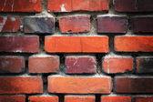 古い破壊されたれんが造りの壁 — ストック写真