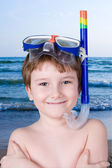 Boy in swimming mask — Stock Photo