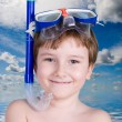 Stock Photo: Boy in swimming mask