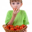 Boy with tomatoes — Stock Photo #8237292
