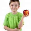 Boy with apple — Stock Photo #8449306
