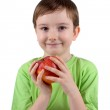 Boy with apple — Stock Photo #8449316