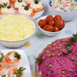 Cold dishes and salads - Stock Photo