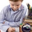 Royalty-Free Stock Photo: Boy does homework