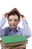 Boy with books — Stockfoto