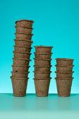 Peat pots — Stock Photo