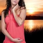Sunset Woman — Stock Photo