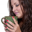 Woman Drinking Coffee — Stock Photo #10227660