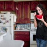 Woman Eating — Stock Photo #10228481
