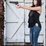 Female Detective — Stock Photo #10228485