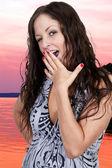 Woman Yawning — Stock Photo