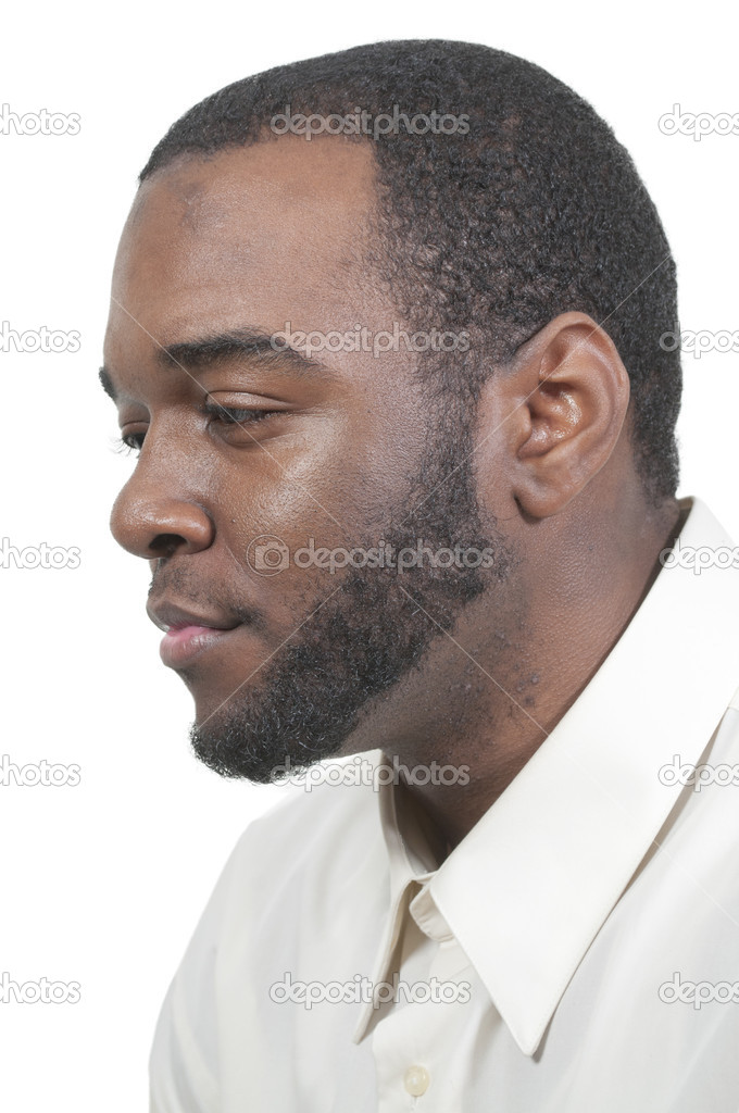 An attractive handsome African American black man  Stock Photo #10481575