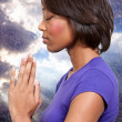 Woman praying — Stock Photo #8324402