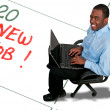 Foto de Stock  : Mwith New Job