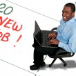 Stock Photo: Mwith New Job